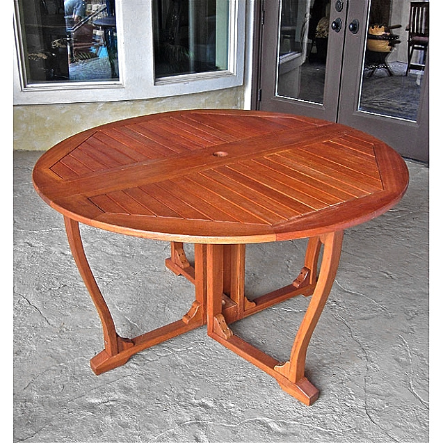 Round Balau 52 Inch Patio Dining Table