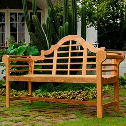 Teak Lutyen 5 Foot Patio Garden Bench