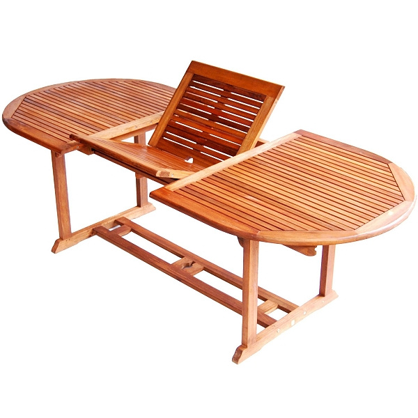 Teak Type 67 to 91 Inch Extendable Patio Dining Table