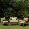 Teak 7pc Deep Seating Patio Conversation Set with Cushions